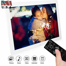 Bewinner Digital Picture Frames 13 inch HD Multi-Function Motion Detection Digital Photo Frame 1280800 Video Frames Player Electronic Calendar Alarm with Remote Control Black Birthday Gift