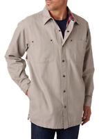 Backpacker Men's Side Seam Pockets Canvas Flannel Lining Shirt Jacket. BP7006