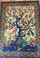Small Tree of Life Indian Wall Hanging Tapestry Gold