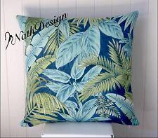 Tommy Bahama Blue, Aqua Tropical Boho Palm 45cm Cushion/Throw Cushion Cover