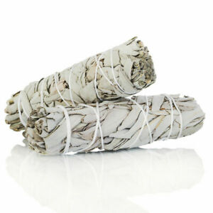 """White Sage Smudge Stick 4"""" - 5""""  2 pack, Herb House Cleansing Negativity Removal"""