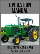 John Deere 4050 4250 4450 4650 4850 Tractor Operation Technical Manual Tm1259