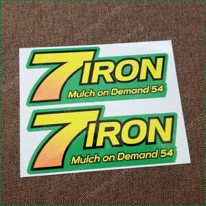 "John Deere 7 Iron MOD 54"" Deck Decal Z820A Z830A Z925A TCU24104"