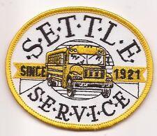 S E T T L E  S E R V I C E Transportation bus driver patch 3 X 3-5/8