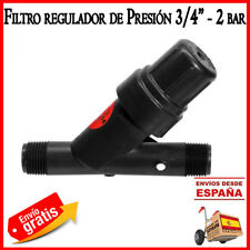 Filtro de malla 25mm 3/4 con regulador presion 2 bar. Filtro reductor Rain Bird