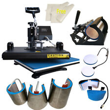 """8in1 12""""x15"""" Heat Press Machine Sublimation Swing away for T-Shirts Mug Plate US"""
