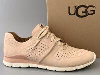 UGG Australia TYE LEATHER Sneaker Shoes Women US8.5 $140 #1016674 Soft Ochre NIB