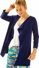 Lilly Pulitzer True Navy Oleander Cashmere Cardigan Sz Small