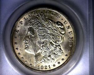 Error Infrequently Reeded AU58 ANACS 1921 Top 100 Vam 27A Morgan Silver Dollar