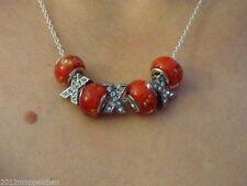 Modeschmuck-Halsketten aus Glas mit Cabochon-Schliffform