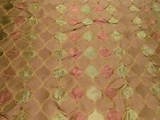 4 Yards Robert Allen Treasured Time Pink Green Sand Silk Msrp $124/Y