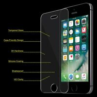 iPhone SE 5S 5 Tempered GLASS Screen Protectors (2 Pack) Bubble Free Easy Instal
