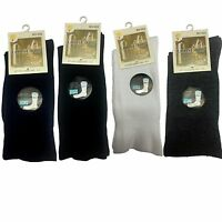 New  5 Pairs Mens Cotton Socks Loose Top Foot Sport Socks Cotton Rich Size 7-11