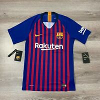 NIKE FC BARCELONA VAPORKNIT MENS HOME SHIRT 18/19 (894417-456) SIZE SMALL