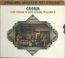 Cream- Live Cream MFSL Gold 2 CDs Box UDCD 2-625 UII. Eric Clapton,Jack & Ginger