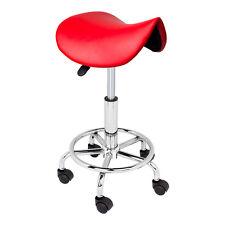 Adjustable Salon Stool Hydraulic Saddle Rolling Chair Tattoo Facial Massage Spa
