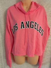 Victoria's Secret Pink La long Sleeve Large L crop Hoodie Top Campus Sweatshirt