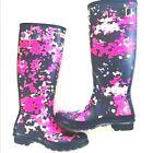 NWT HUNTER Original Purple Flecktarn Camo Runway Print Pinterest Tall Rain Boot