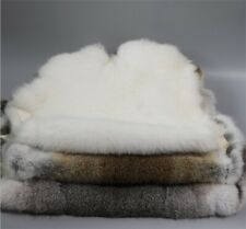 "4x Genuine Natural Rabbit Fur Skin Tanned Leather Hides Craft Gray Pelt 16""x10"""