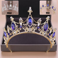 7.5cm High Blue Crystal Wedding Bridal Party Pageant Prom Tiara Crown Headband