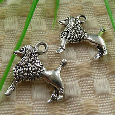 free ship 60 pieces tibetan silver dog charms 19x16mm #4192