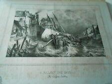 Litho 1833 - Paysage Marin de Eugène Isabey