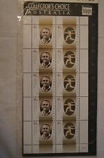 DON BRADMAN - Australian Legends -Collector's Choice Sheet of 10 Stamps - Sealed