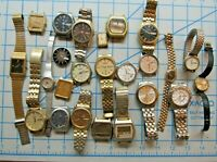 GREAT LOT 24 VINTAGE SEIKO AND CITIZEN WATCHES - LCD., SQ, ETC