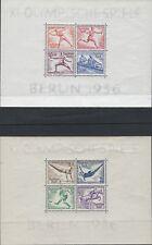 Alemania: 1936 Juegos Olímpicos de Verano, Hojas de Berlín min par SG613a Estampillada sin montar