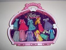 Disney SLEEPING BEAUTY Mini Polly Pocket Princess Set 20 Pcs & Pink Case