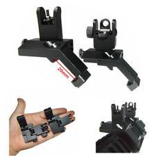 Tactical BUIS Backup Front Rear Flip Up 45 Degree Offset Rapid Iron Sight Mount
