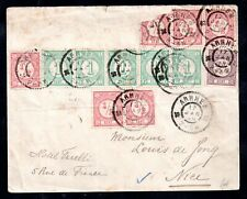 Netherlands Indies 1899 cover to Nice (signed on back) WS17090