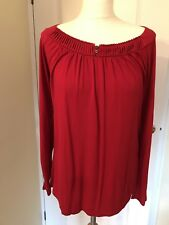 Boden Red Tunic Top Size 14 Nwot