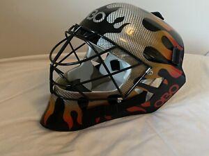 OBO Goalkeeping Robo FG Half Paint Helmet Size XL Flame -