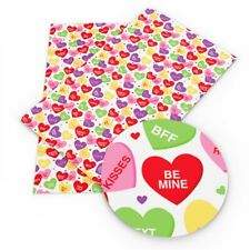 VALENTINE'S DAY CONVERSATION HEARTS 100% Cotton Fabric Material 19