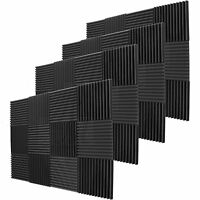 """48 Pack Acoustic Wedge Studio Soundproofing Foam Wall Tiles 12""""X12""""X2"""" The USA"""