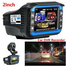 """2"""" HD 120° Car Video Camera DVR Recorder Dash Cam G-sensor+Radar Speed Detector"""