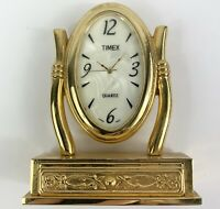 """Timex Novelty Mini CLOCK Collectible Whimsical Vanity Mirror Mother of Pearl 3"""""""