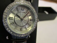 AVON Pure Elegance Watch Created with 72 Sparkling Swarovski Crystals Silvertone