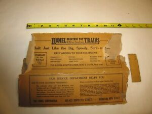 """Lionel standard ga early 1900's original box """"remnant""""  from 10 series car"""