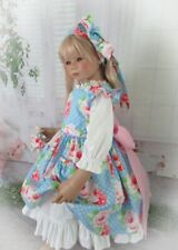 Blooms & Dots w Pocket Kitty Dress Set For Your Special Himstedt Dolls.