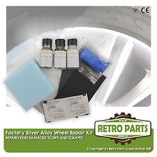 Silver Alloy Wheel Repair Kit for Peugeot 206. Kerb Damage Scuff Scrape