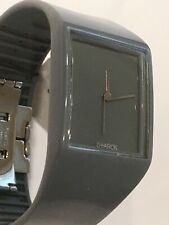 Philippe Starck Watch PH5034 Grey Polished Urethane Band, NWT New Batt, SALE!