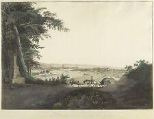 DRESDEN - Gesamtansicht - Wizani - kolorierte Umrissradierung 1810