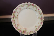 C T CARL TIELSCH GERMANY PINK FLORAL DESSERT PLATE(S)  (1875 - 1900 MARK)
