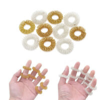 5/10Pcs Finger Massage Ring Acupuncture Health Care Body Acupressure Massagers