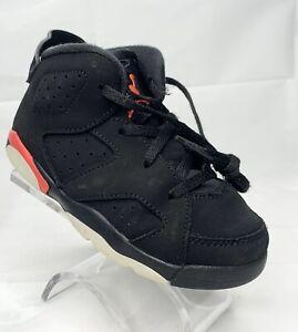Nike Air Jordan 6 Retro Black/Infrared Toddler Size 10c Basketball Athletic Shoe