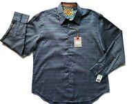 Robert Graham Ginza Sport Long Sleeve Button Shirt Mens 2XL Blue Green NWT