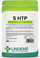 5HTP 100mg 120 Tablets Depression Anxiety Appetite Insomnia Serotonin Lindens UK