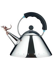Alessi 9093REXB Tea Rex Hob Kettle with Dragon Whistle - (Stainless Steel) B+